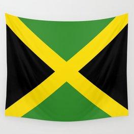 Flag of Jamaica-Jamaican,Bob Marley,Reggae,rastafari,weed,cannabis,ganja,america,south america,ragga Wall Tapestry