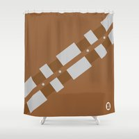 chewbacca Shower Curtains featuring Chewbacca by VineDesign