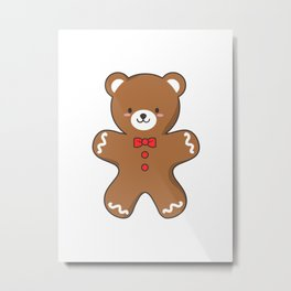 Ginger-Bear Cookie Metal Print