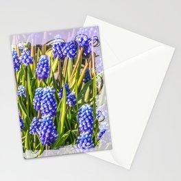 Grape hyacinths muscari Stationery Cards