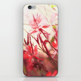 Coral Floral iPhone Skin