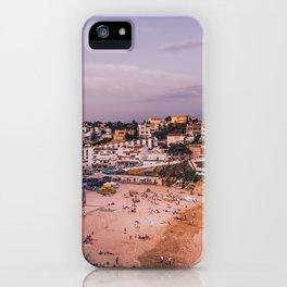 Carvoeiro town and beach in Lagoa, Algarve, Portugal. iPhone Case
