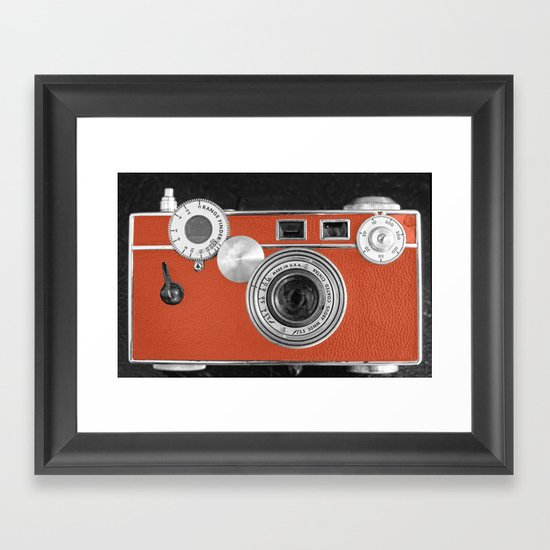 Tangerine Tango retro vintage phone Framed Art Print