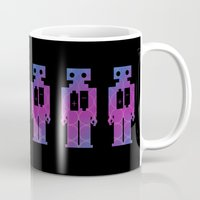 robots Mugs featuring Robots by Scar Design