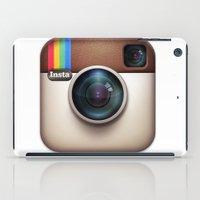 instagram iPad Cases featuring instagram ipad  by onlinekw