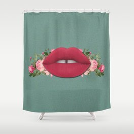 Lips n' Roses Shower Curtain