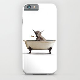 Cow in Bath iPhone Case