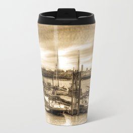 Boat community river Thames London Travel Mug