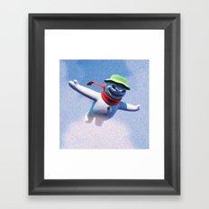 something scary in the air Framed Art Print