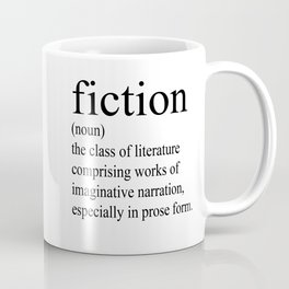 Fiction Definition (Black on White) Coffee Mug