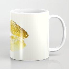Lips Gold Coffee Mug