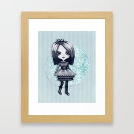Gothy Girl Framed Art Print