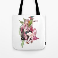 bouletcorp Tote Bags featuring Geisha Rose by Bouletcorp