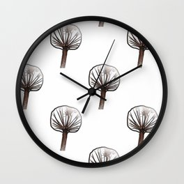 Little Trees (white) Wall Clock