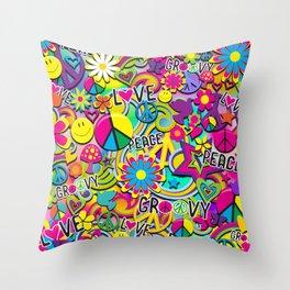 Groovy Fun Throw Pillow