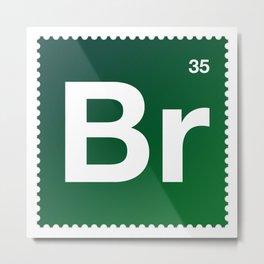 Stamp Sweries - Br35 Metal Print