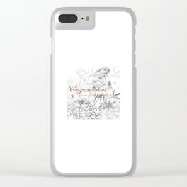 Engagement present marriage present Clear iPhone Case