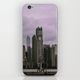 Purple Chicago Evening iPhone Skin