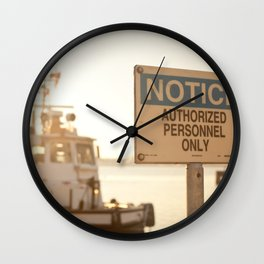 Authorized Personnel Wall Clock