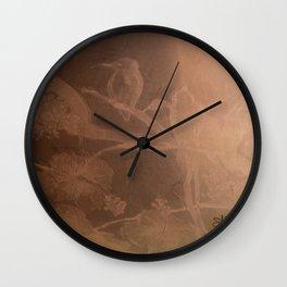 Hummingbird Heaven Wall Clock