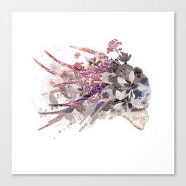 Floral Sugar Skull Canvas Print