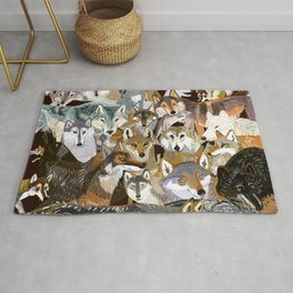 Wolves o´clock ( Time to Wolf ) Rug