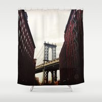 dumbo Shower Curtains featuring DUMBO by Britannie Bond