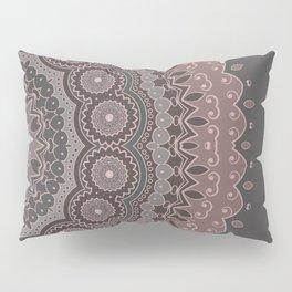 Mandala Spirit, Rose Pink, Gray Pillow Sham