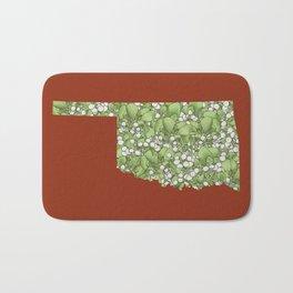 Oklahoma in Flowers Bath Mat