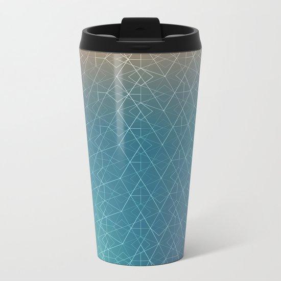 Blurred Geometry Metal Travel Mug