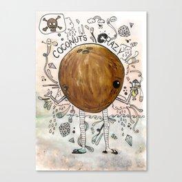 A dreamy collaboration: Coconut crazy Canvas Print
