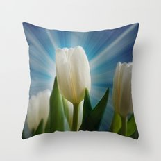 Tulpen Traum Throw Pillow