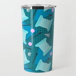Memphis Sewing in Blue Travel Mug
