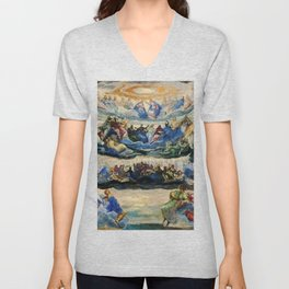 """Tintoretto (Jacopo Robusti) """"The Coronation of the Virgin"""", known as """"Paradise"""" (1580) Unisex V-Neck"""