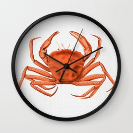 Crab - Watercolor Wall Clock