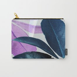 Blue Violet Leaves Carry-All Pouch