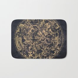 Vintage Constellations & Astrological Signs | Yellowed Ink & Cosmic Colour Bath Mat