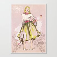 50s Canvas Prints featuring 50s by Galvanise The Dog