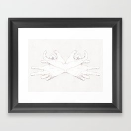 Head Crab Framed Art Print