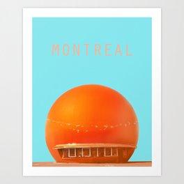 MONTREAL PASTEL Orange Julep Art Print