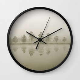 Reflections at sunrise Wall Clock