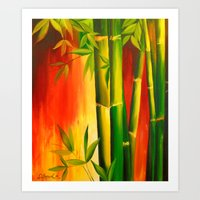 bamboo Art Prints featuring Bamboo by OLHADARCHUK
