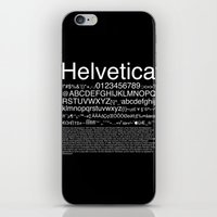 helvetica iPhone & iPod Skins featuring Helvetica (White) by Zuno