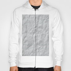 Crumpled Lined Paper Hoody