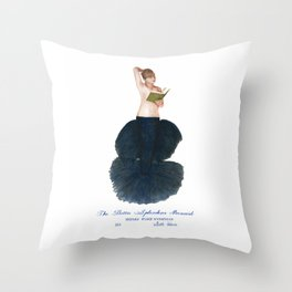 The Betta Splendens Mermaid Throw Pillow