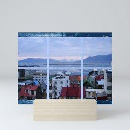Reykjavik skyline view Mini Art Print
