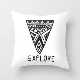 Explore Mindset Throw Pillow