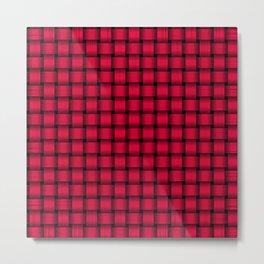 American Rose Red Weave Pattern Metal Print