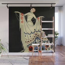 """""""The Jewelled Gown"""" Art Deco by J Carlos Wall Mural"""