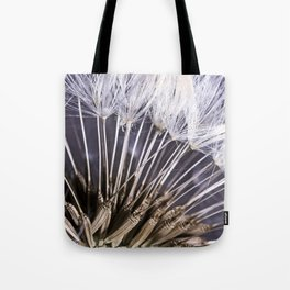 Extreme Macro Image of a Dandelion Seed Head Tote Bag